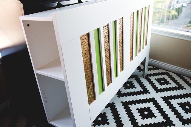 Ikea Brimnes Headboard Hack Plain White To Bold Stripes Ikea