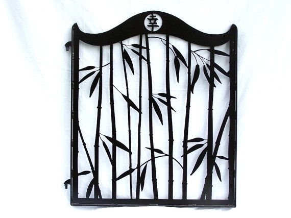 Steel Bamboo Garden Gate Japanese Kanji Metal Art With Images