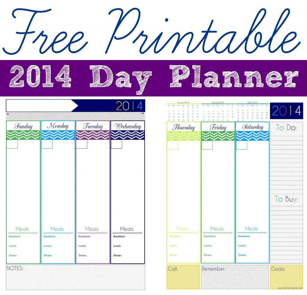 Freebie Friday  Day Planner  Planners Free Printable And