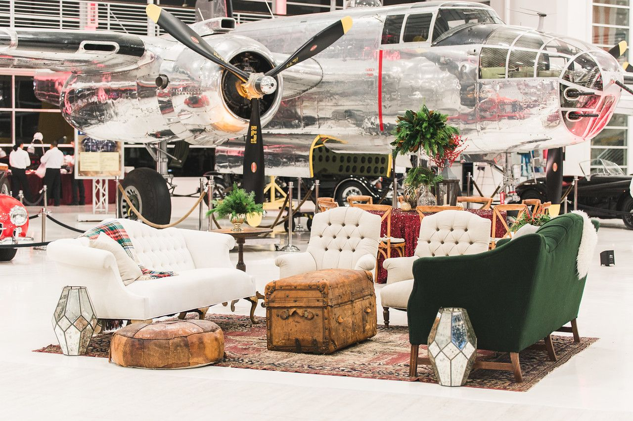 Holiday lounge lyon air museum event baker party rentals