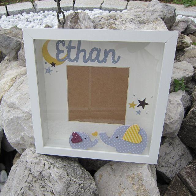 Personnalisée photo boite cadre scrabble lettres bébé anniversaire baptême adorable!