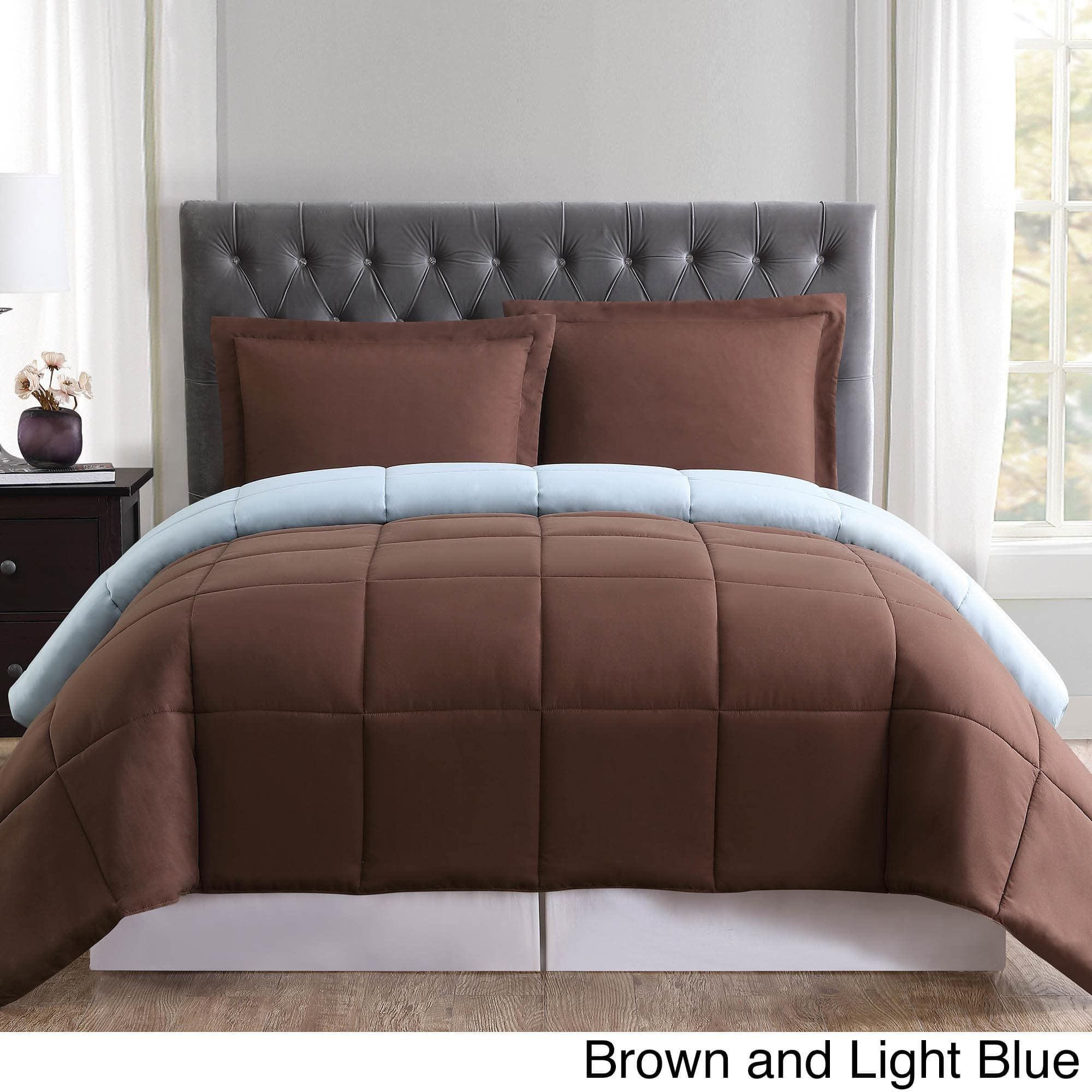 Truly Soft Everyday Reversible Down Alternative 3 Piece Comforter