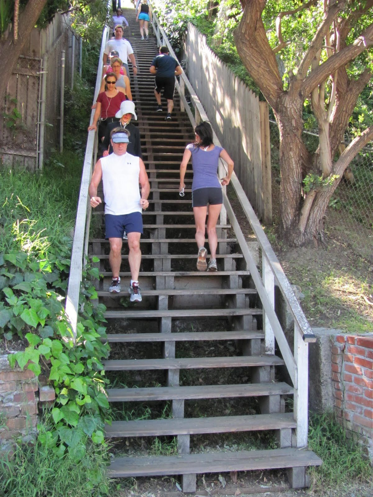 Stair Workout Stairs Workout Hiit Benefits Santa Monica Stairs