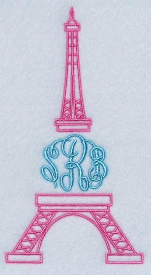 The Eiffel Tower Embroidery Monogram Frame Apex Embroidery Designs