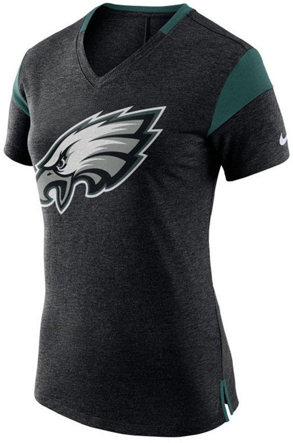 competitive price 96c48 1f9bb Women's Philadelphia Eagles Fan V-Top T-Shirt | Products ...