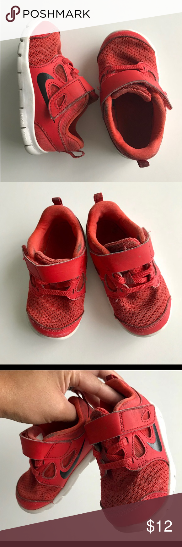 7b2c15db2d3b Nike Boy girl red   black sneakers Still have lots of life left ...