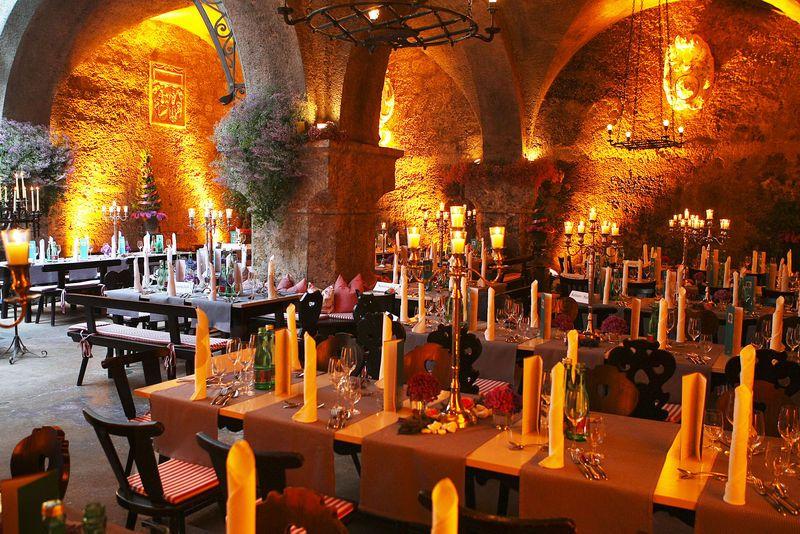 The oldest restaurant in the world. St. Peter Stiftskeller