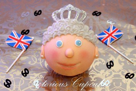 Queen Elizabeth Diamond Jubilee Cupcake