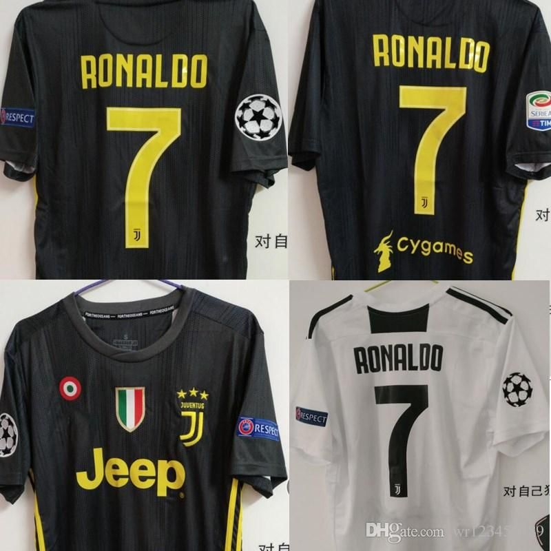 buy popular 775da ea97d Cristiano Ronaldo Juventus Home Third Kit Jersey 2018-2019 ...