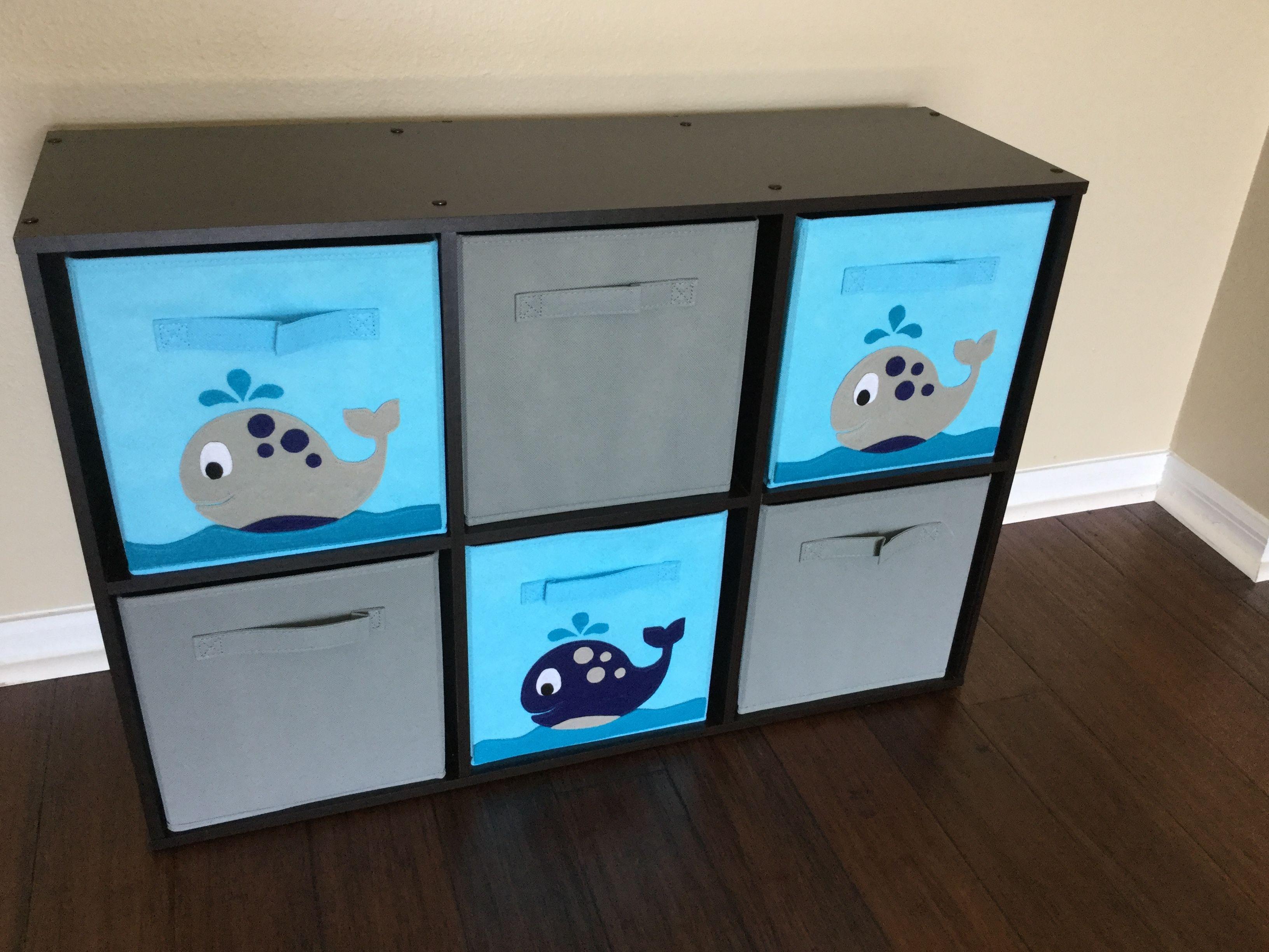 Custom Ordered Whale Cube Storage Bin