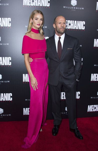Rosie Huntington-Whiteley and Jason Statham - Celebrity Couples with Extreme Height Differences - Photos