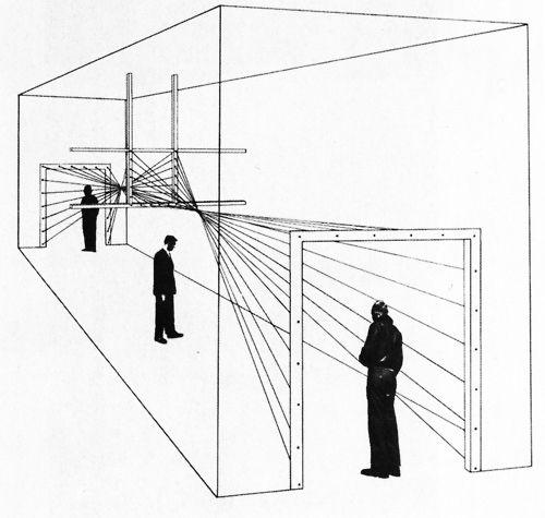 Herbert Bayer, Drawing for Entrance, Modern Art in