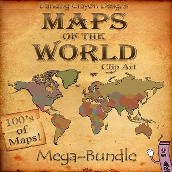 World maps mega bundle clip art countries and maps of the world mega bundle of map and countries of the world clip art also gumiabroncs Image collections