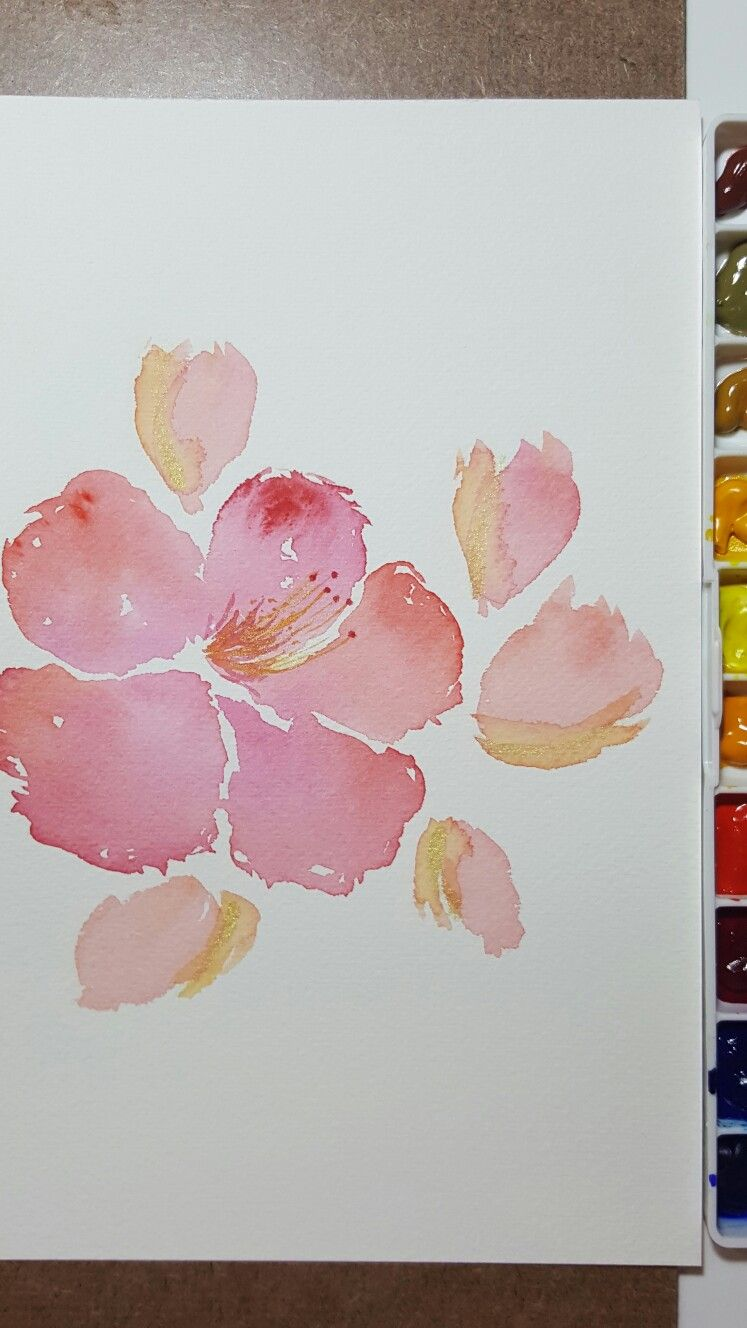 Chinese rose or hibiscus in watercolor watercolor pinterest chinese rose or hibiscus in watercolor izmirmasajfo