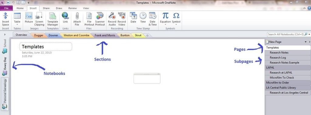 How I Use OneNote to Organize My Genealogy - August 1, 2013 from