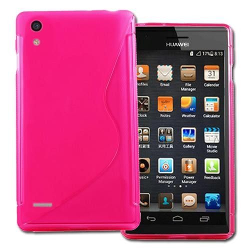 Huawei Ascend P6 S-Line Gel Case - Hot Pink