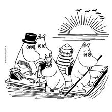 free moomin coloring pages