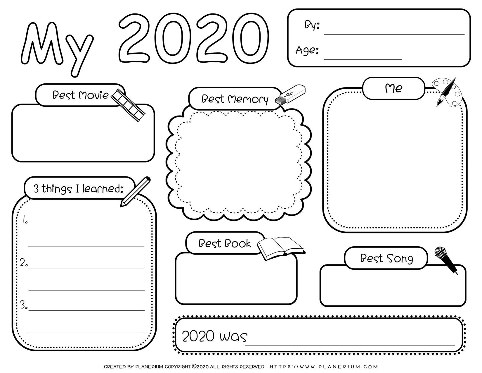 Self Reflection For 2020 Free Writing Activity Planerium In 2021 Reflection Activities Student Reflection Writing Activities Free writing worksheets for year 2