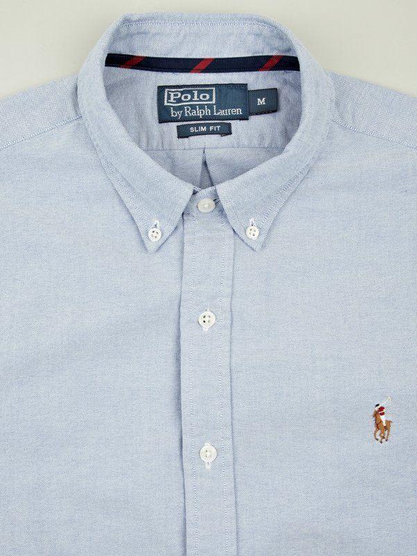 Polo Ralph Lauren Men s Blue Slim Fit Button-Down Shirt  d17ad518da6