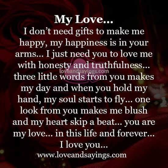 My Love This Is All I Ll Ever Need To Fall In Love With You Everyday Soulmate Love Quotes Love Poems For Him Love Yourself Quotes