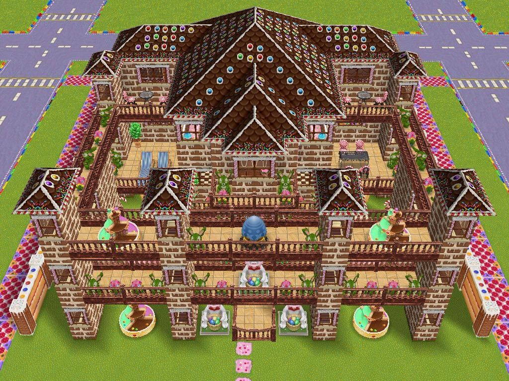 House design sims - House 94 Candy Kingdom Full View Sims Simsfreeplay Simshousedesign