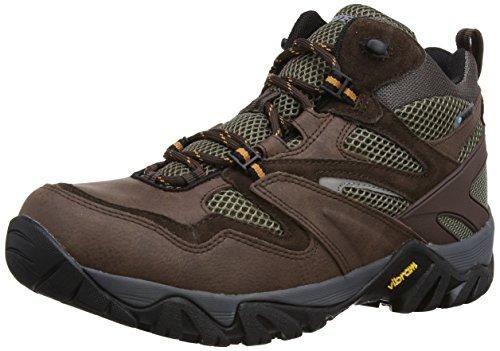 Hi-tec Condor, Chaussures de Randonnée Hautes Homme, Vert (olive/warmgrey/gold), 46