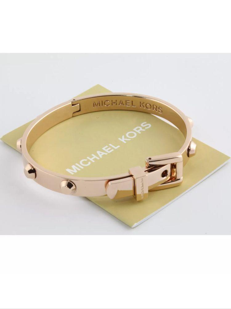 7f226c9d9fc5 Michael Kors Buckle Stud Bracelet Rose Gold MKJ1821791