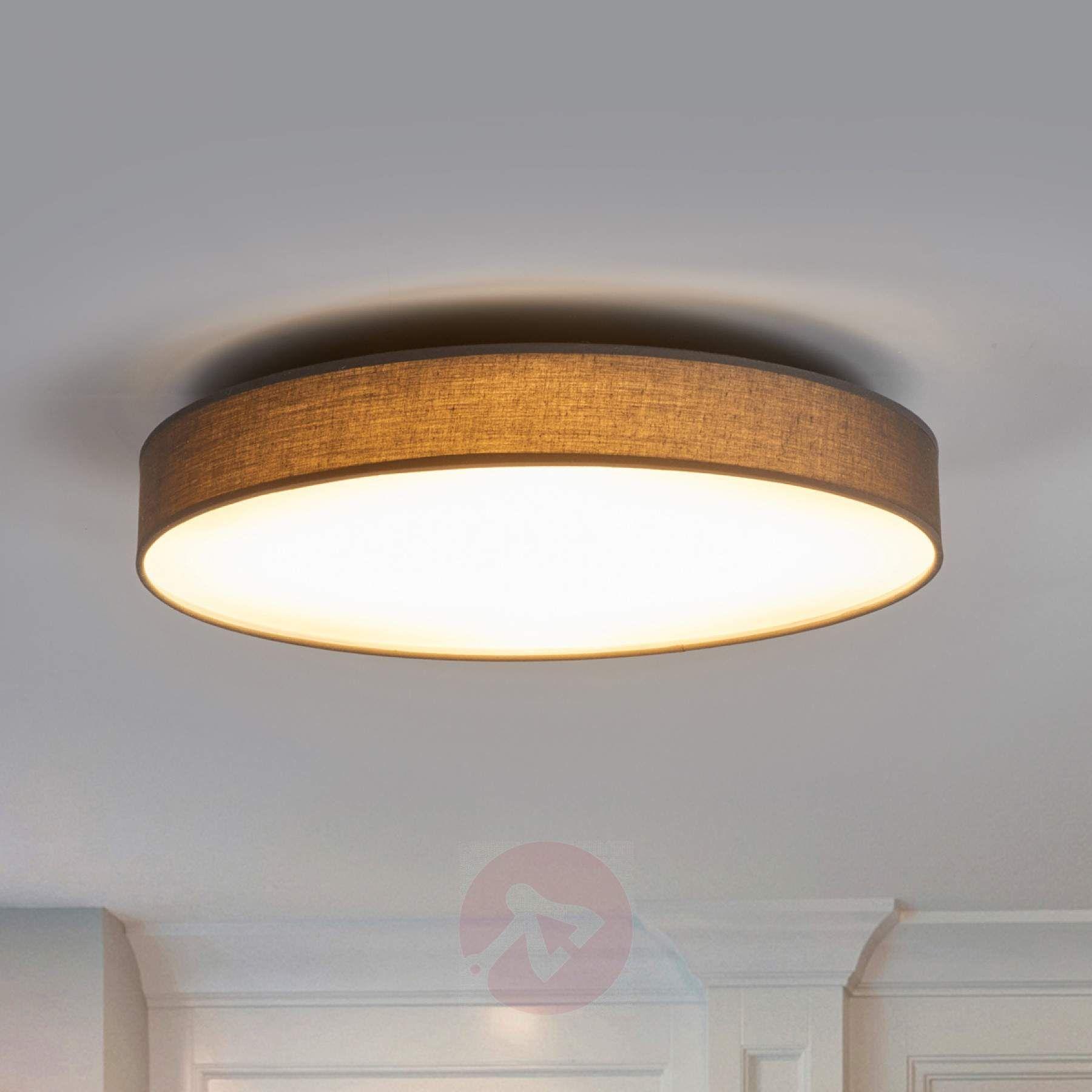 Textil Deckenlampe Saira In Grau Mit Leds 9625094 02