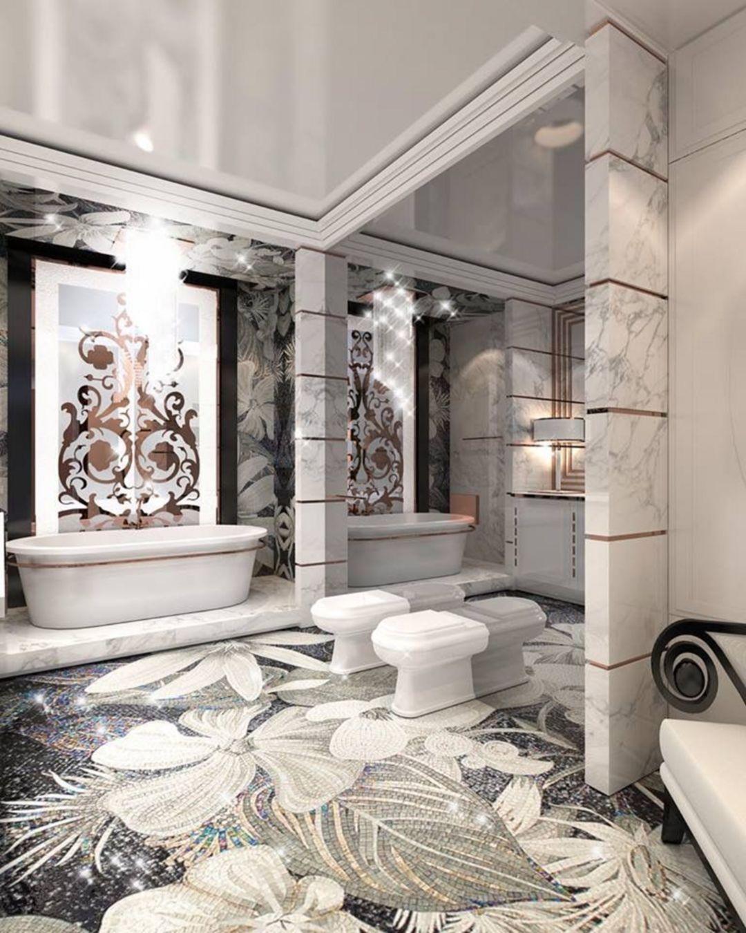30 Glamorous Bathroom Design Ideas You Never Seen Before Luxury Bathroom Glamorous Bathroom Bathroom Design