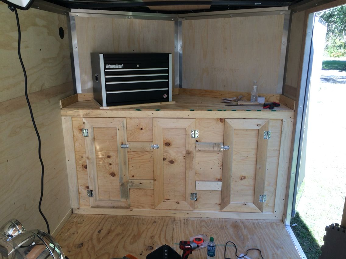 V Nose Trailer Cabinet Enclosed Trailers Trailer Interior