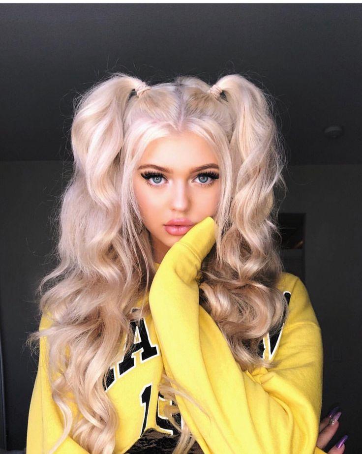 wavy pigtails Curly hair styles, Hair styles, Hair