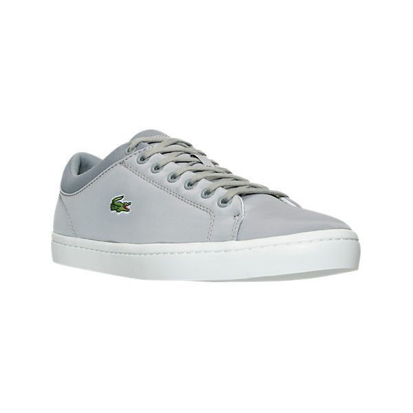 Lacoste Men's Straightset SPT Casual Shoes ($95) ❤ liked on Polyvore  featuring men's fashion, men's shoes, men's sneakers, grey, mens high top  sneakers, ...
