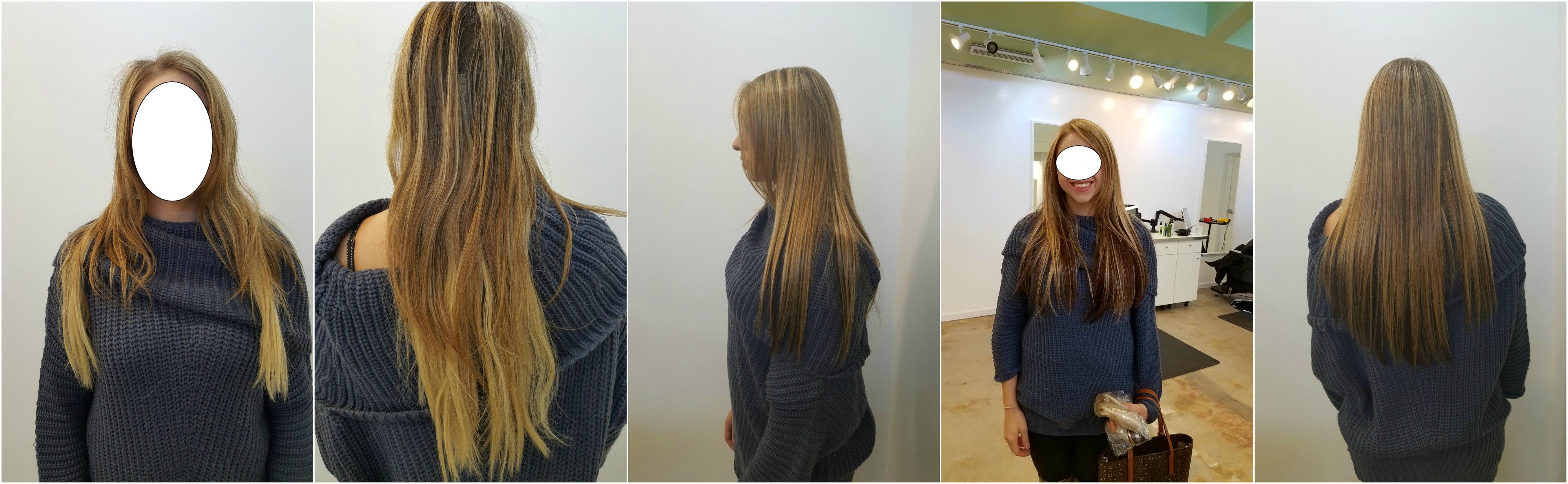 Pin By Nyla Hair Salon On Hair Extensions Before After