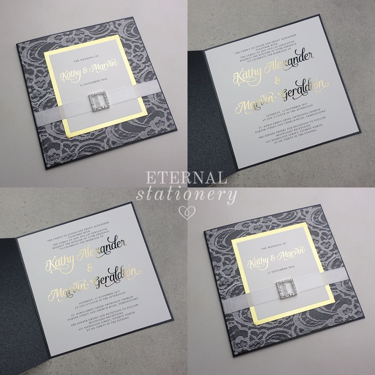 Gold foiled Wedding Invitation Created by Eternal Stationery www ...