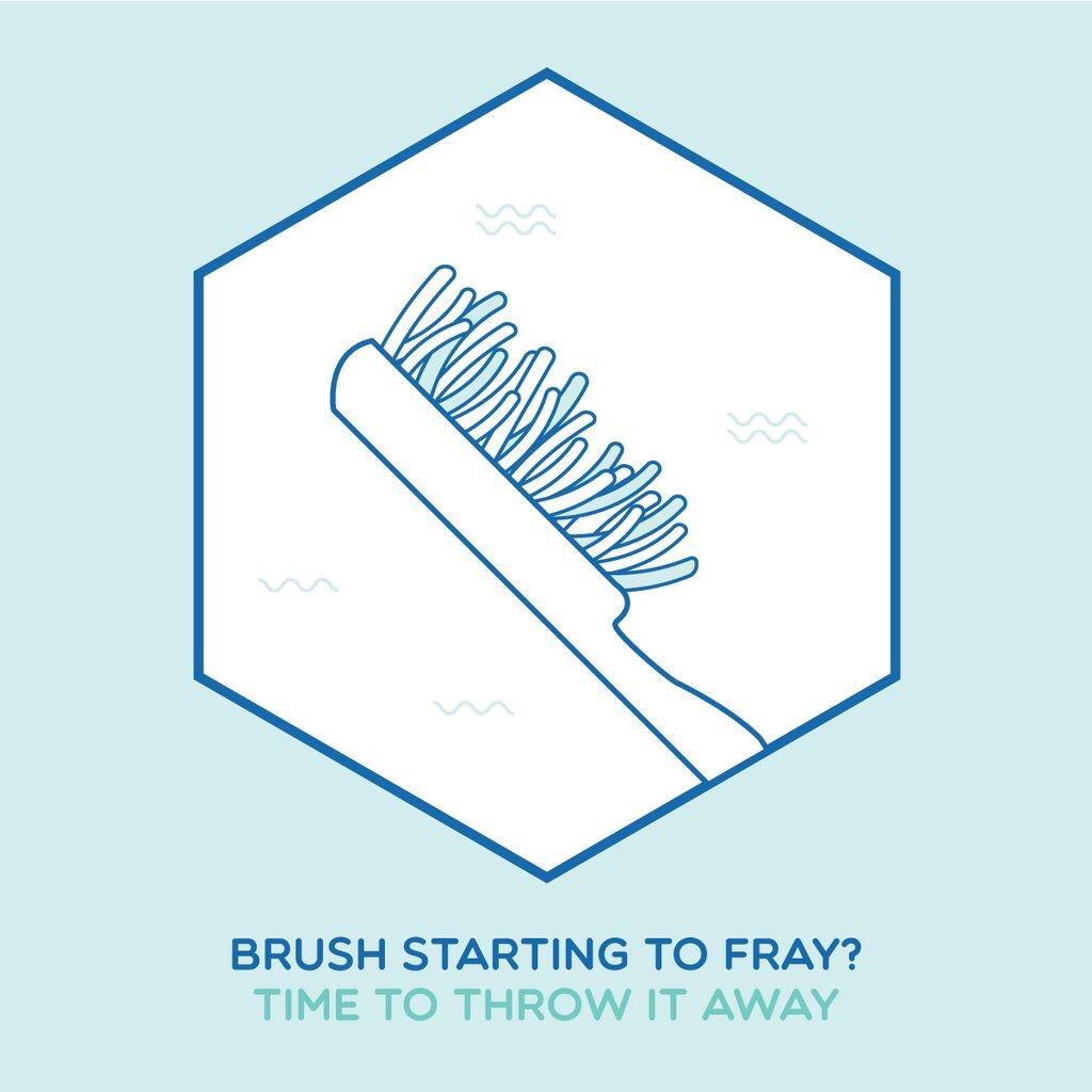 Brushing Basics Frayed Bristles Don T Clean As Well Replace Your