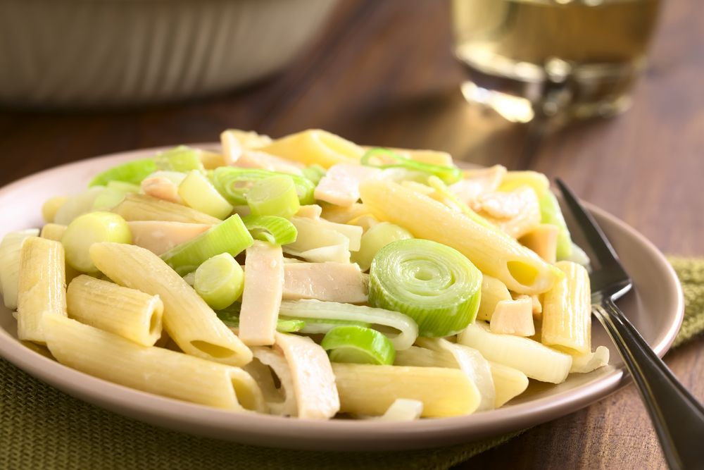 Ham leek pasta recipe leek pasta easy meals food