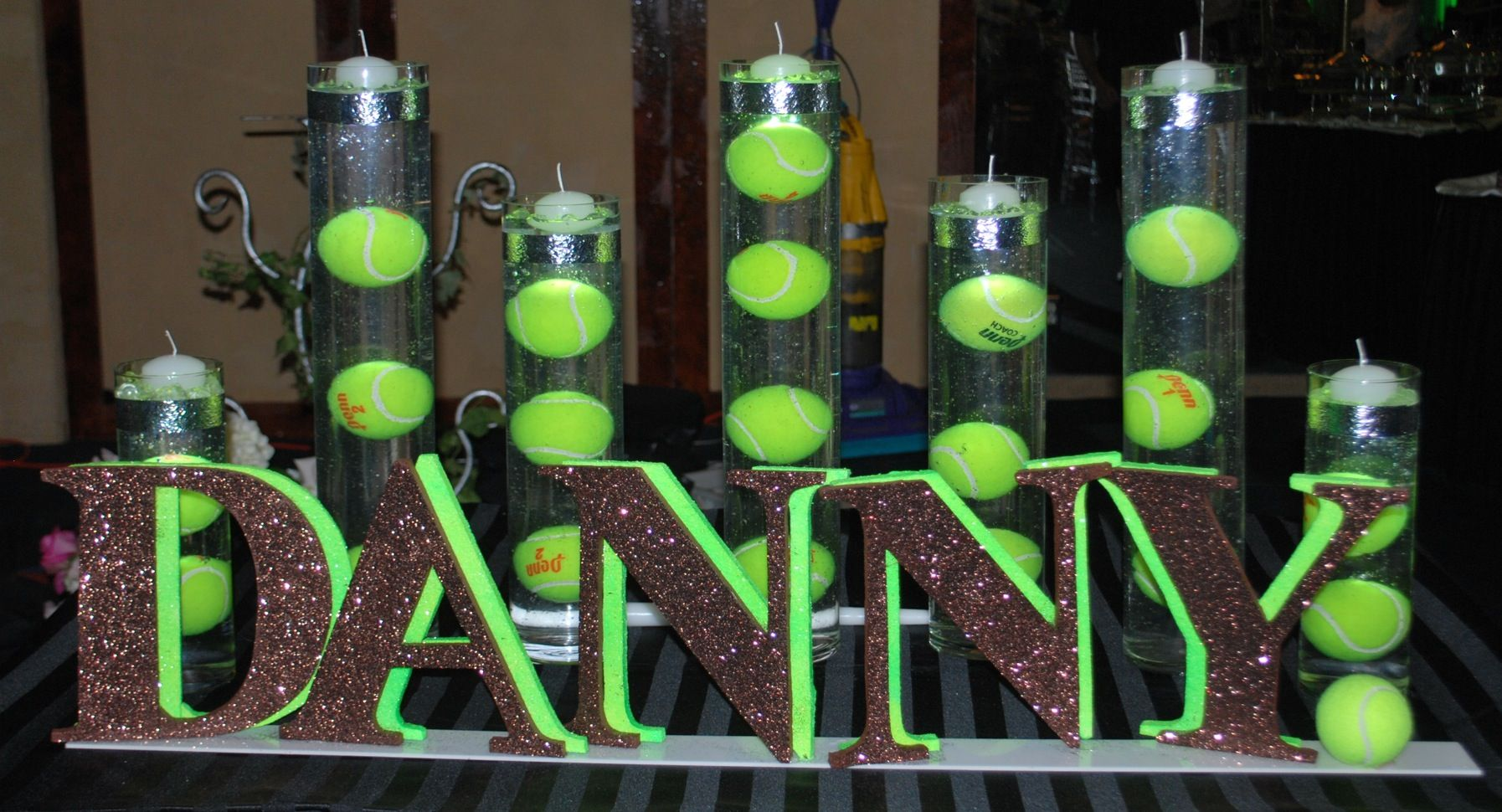 Tennis Themed Bar Mitzvah Candle Lighting Display Party