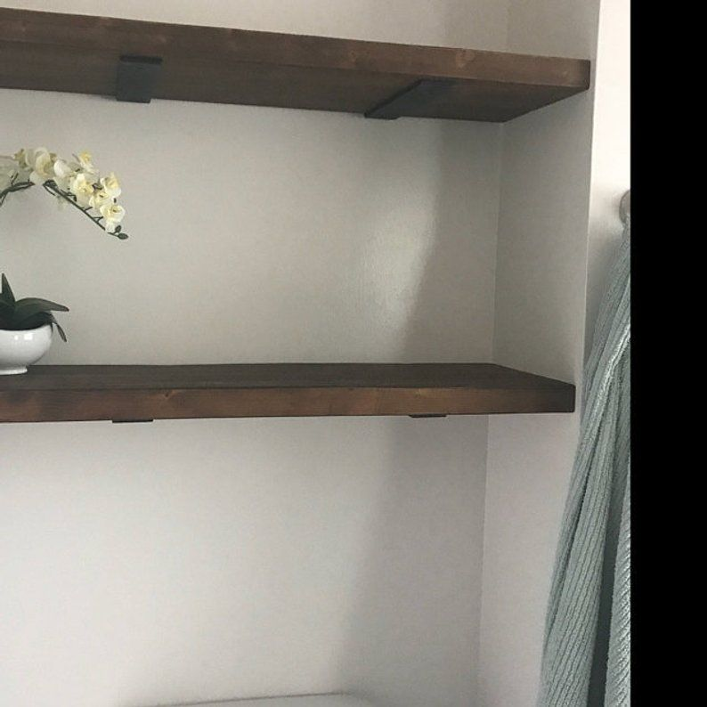 9 Inch Floating Shelf Bracket 2 Inch Wide X 1 4 Thick Hidden Etsy Floating Shelves Floating Shelf Brackets Shelves