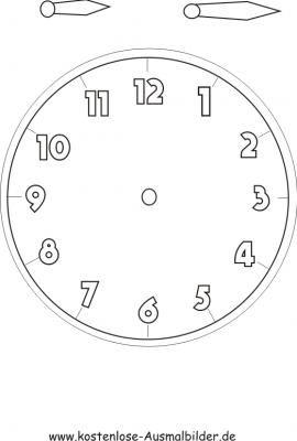 Malvorlagen Uhren 235 Malvorlage Uhr Ausmalbilder Kostenlos