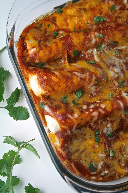 Cheese Enchiladas with Chili Gravy