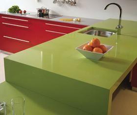 Captivating Repaint The Laminate Countertop: Green And Green!
