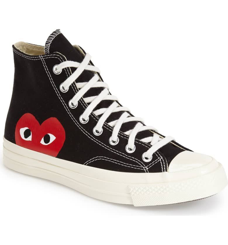 Converse x Comme des Garcons PLAY Shoes Black | Feature