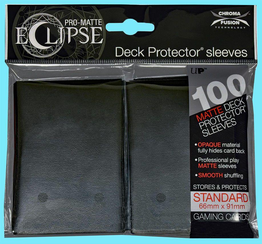 100 SLEEVES STANDARD PRO MATTE BLACK DECK PROTECTOR