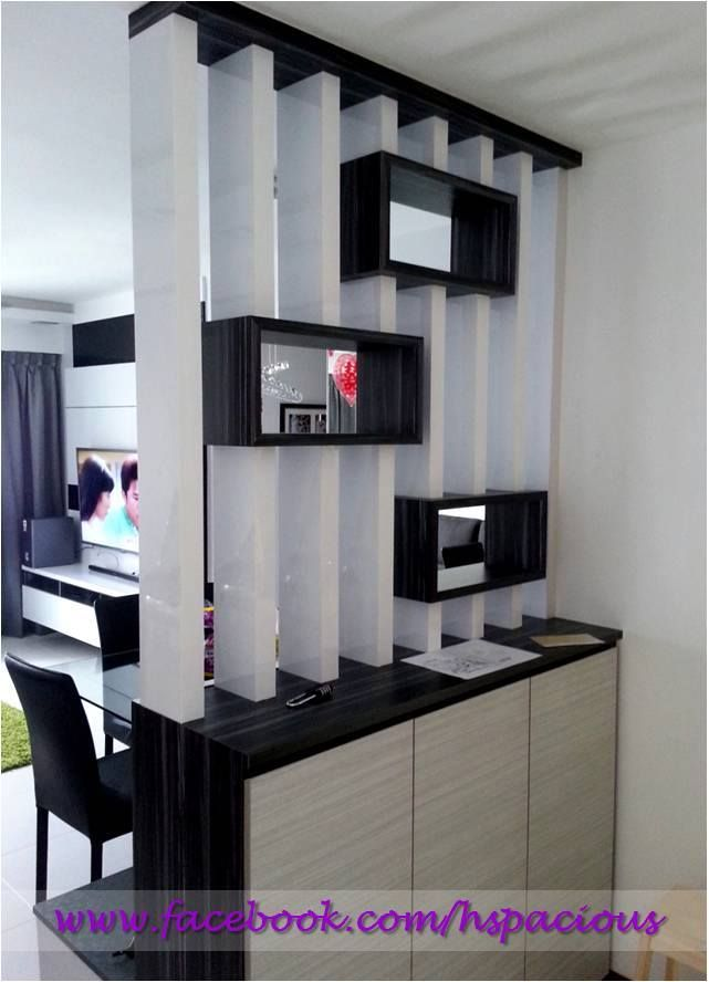 Hdb shoe cabinet with display divider hspacious living Living room shoe storage ideas