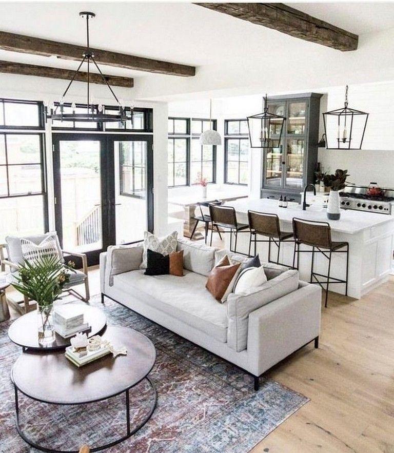 35 Stunning Open Living Room Design Ideas In 2020 Open Concept Living Room Open Living Room Design Living Room Design Modern