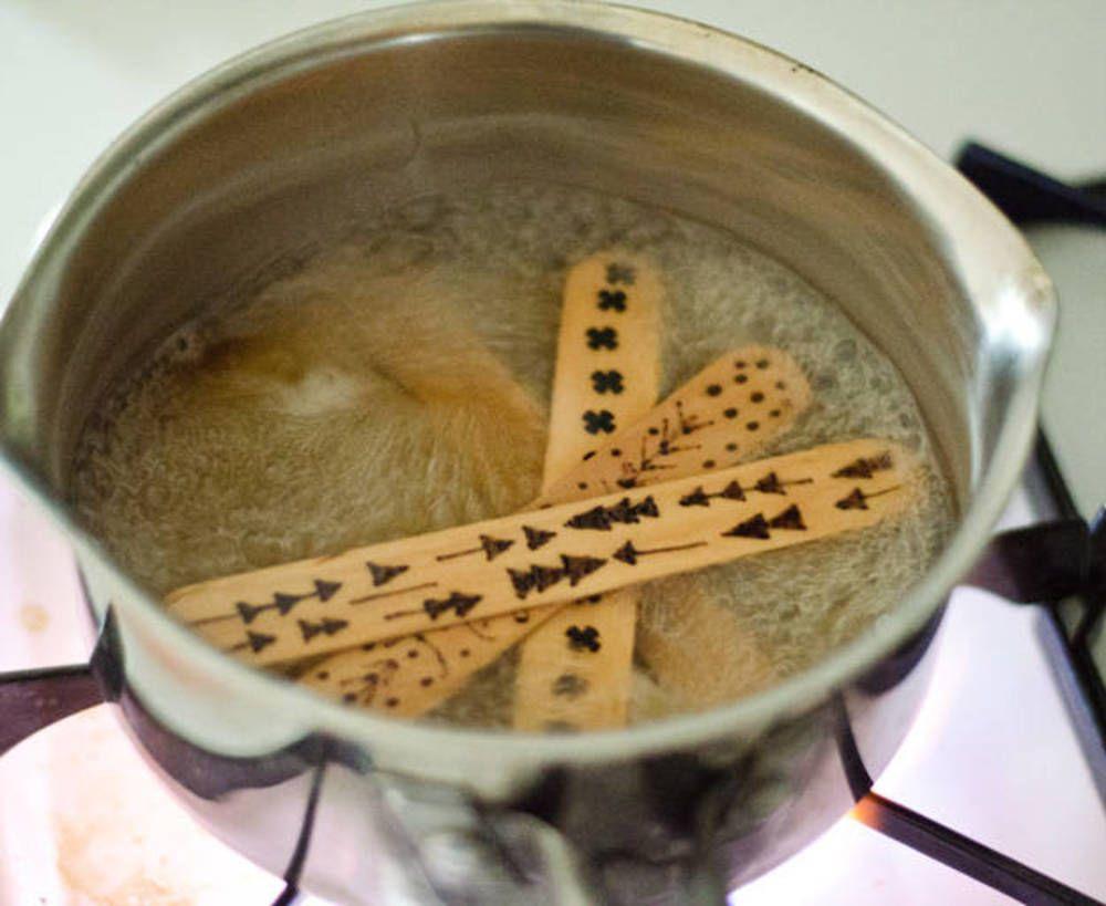 Photo of DIY Wood Burned Popsicle Stick Bracelets