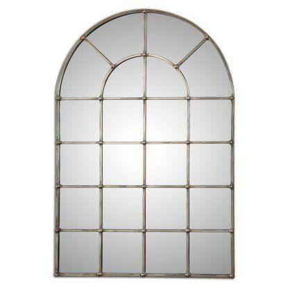 Uttermost Barwell Arched Window Mirror 29 5w X 44 13h In
