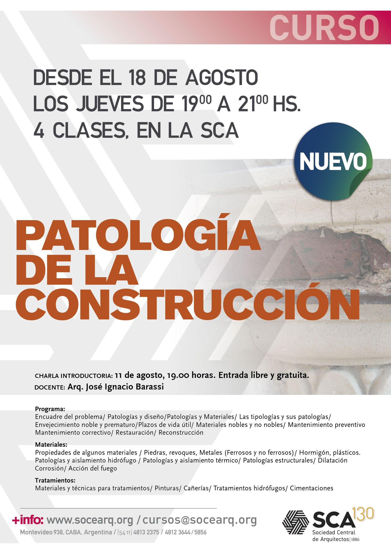 SCA | PATOLOGÍA DE LA CONSTRUCCIÓN La Sociedad Central de ...