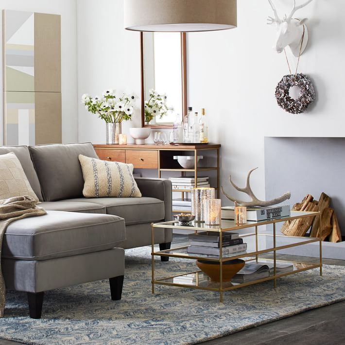 Terrace Coffee Table Coffee Table West Elm Coffee Table Living Furniture