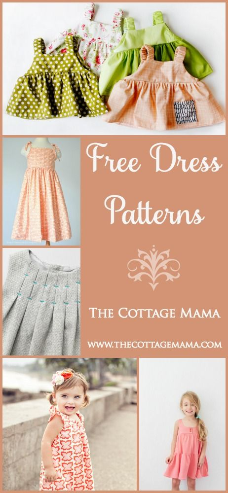 Free Dress Patterns for Girls (The Cottage Home) | Pinterest | Dress ...